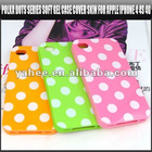 Polka Dots Series Soft Gel Case Cover Skin for Apple iPhone 4 4S 4G,YAP316A
