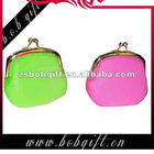 attractive colourful silicone coin bag / coin purse for woman or girls