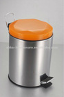 stainless steel round pedal step bin