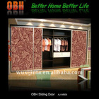 wardrobe door with sliding system