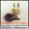 Deluxe rabbit crystal rhinestone charm for garmnet