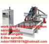 1500mm*2500mm woodworking cnc embossment machine with tools changers