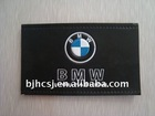 custom embossed leather label