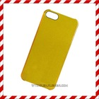 Transparent set gold powder case for iphone 5