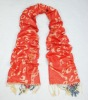 Half red and half orange jacquard tippet for women/Fashion accessories