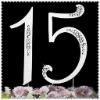 """Anniversary rhinestone cake topper number """"15"""""""