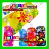 MOQ:10pcs mix styles Free Shipping BPA-free hot selling 16OZ(480ml) 6colors flower pattern hot foldable plastic water bottles