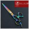 Titanium Rainbow Colored Design Hair Shear