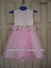 simple pink beautiful flower kids wedding dresses
