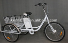 steel frame 26 inch front hub motor tricycle