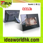 Hot sale, 7 inch black acrylic lcd digital photo frame with video ID-070B2