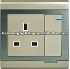 Electric wall switch and socket 13A