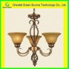 Wrought iron pendant light in brown for bedroom