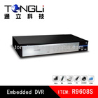 full d1 cctv hd 8ch h.264 network embedded dvr