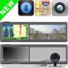 4.3 inch rear view mirror gps