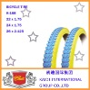 Yellow &Bule Bicycle Tire