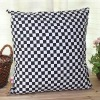 Fashion Traditional Black and White Check Printed Cushion/Pillow