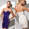 Free shipping 2013 white beaded sweetheart ruches mini party custom-made white short cocktail dresses CWFac4945