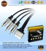 Scart to 3RCA cable for DVD,PS3,HDTV,computer,DVB, TOP BOX.(A1073)