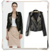 Classic women's casual fashion rivets decorative suit collar PU leather jacket
