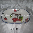 custom porcelain oval plate