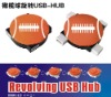 American football promotional USB hub with 4 ports