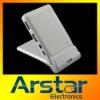 Foldable USB hub mobile phone holder