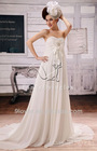 2012 new design white chiffon empire pregnant women dresses wedding dress F-044