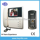 "3.5"" TFT LCD color handset video door phone system with Metal Pin-hole camera"