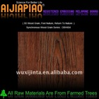 Synchronous wood grain melamine laminated MDF
