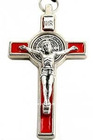 Religious red color enamel crucifix