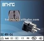 Plug Adaptor/two-round-pin plug SC-WN-04 Black