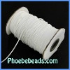 Wholesale 1mm 200 Yards/Roll Shamballa Bracelet White Waxed Cotton Cord WCT-012A