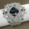 Vintage Fashion Black CZ Diamond Rose Bangle Bracelet