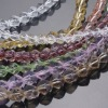 Faceted Square Glass Beads