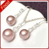 Earrings, Pendant Necklace pearl jewelry set