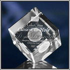 3D Laser Crystal Paper Weight Promotional Gift