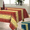 bubble Printed cotton tablecloth (home textile)