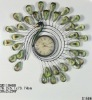 2012 Peacock Metal Wall Clock For Home Decor