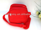 red canvas insulated cooler bag with zipper closure