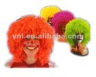 Good quality football sports fan wigs/party wigs