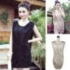 BAYA003 Europe and the United States women's big fashion dress generous thin Slim Elegant Dress