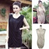 BAYA003 Europe and the United States women's big fashion dress generous thin Slim Elegant Dress