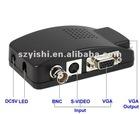 BNC to VGA video converter (TV to PC convertor),high resolution: 1920 x 1200