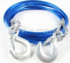 steel cable tow rope for car use / car drawing tow rope /car accessories