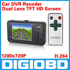 2.7'' Car DVR Dual Lens 609 TFT HD Screen Car Video Camera Black Box with 120 Degree View Angle
