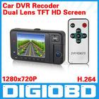 2.7'' Car DVR Dual Lens 609 TFT HD Screen Car Video Camera Black Box with 120 Degree View Angle