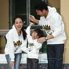 white Family Matching 100% cotton Hoodie