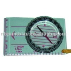 map compass with ruler