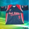 100% polyester sublimated baseball shirts